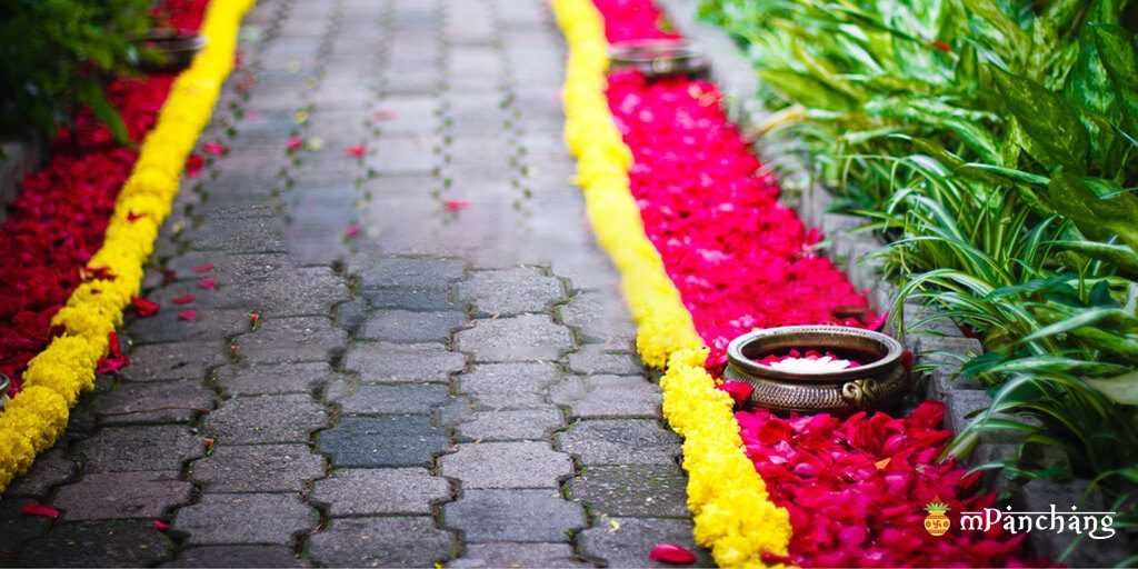 Pathway flower decoration