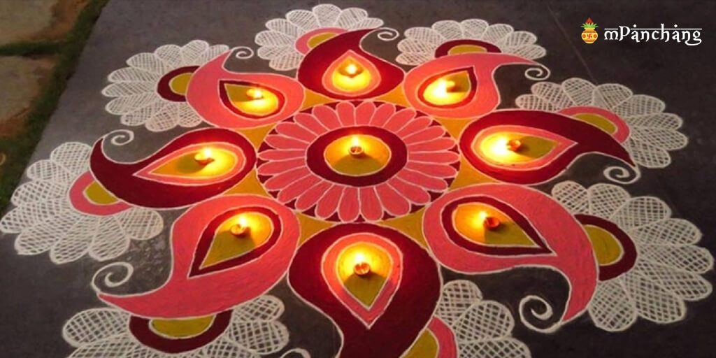 Pattern Rangoli for Diwali